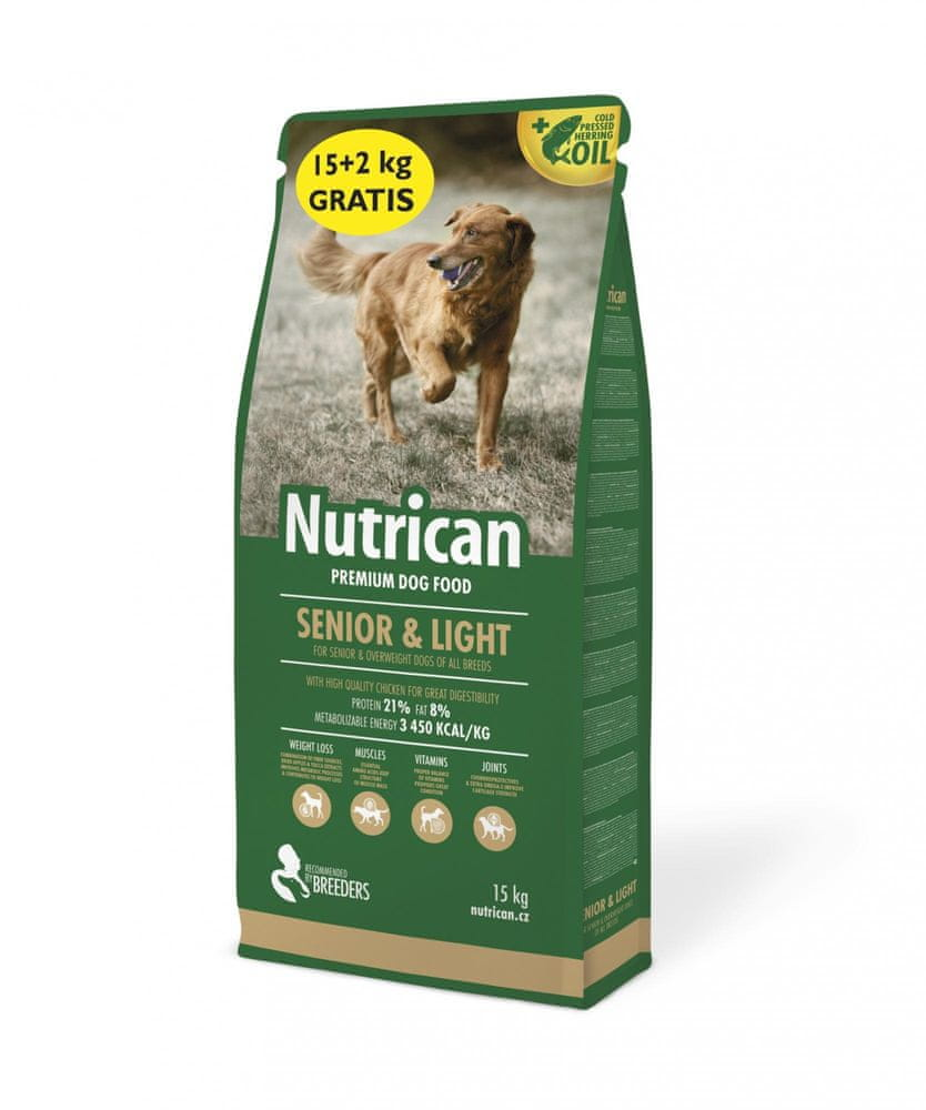 Nutrican Senior & Light 15 kg + 2 kg
