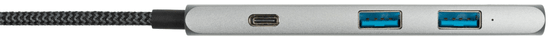 Xtorm USB-C Hub 4-in-1 Braided Cable 60 W PD XC203