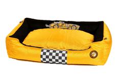 KIWI WALKER Racing Cigar pelech z ortopedické pěny M, žlutý