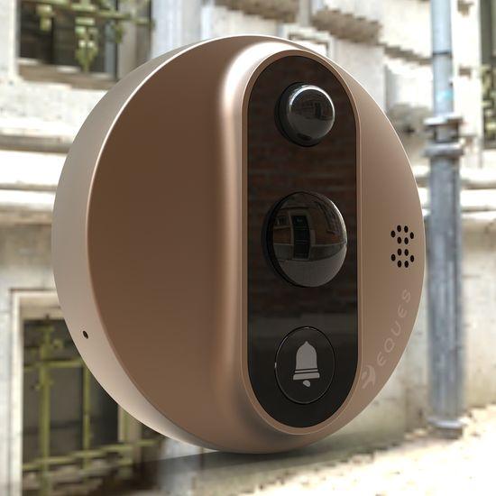 Eques Digitální dveřní Wi-Fi kukátko VEIU MINI 2 A27 (Cooper)