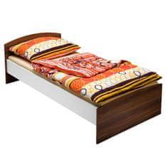IDEA nábytek Jednolůžko 60343 ořech/bílá