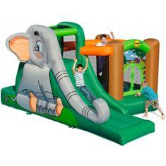 Happy Hop Slůně skákací hrad s míčky, skluzavkou a skákací trampolínou