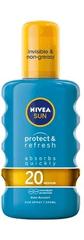 Nivea Invisible Protect & Refresh sprej za sončenje SPF 20, 200 ml