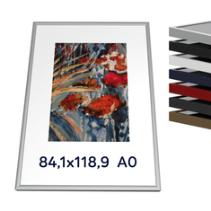 Kovový rám 84,1x118,9 cm A0 - Elox stříbro mat 1-04