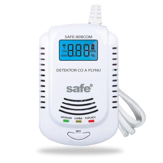 Safe Home Kombinovaný detektor CO, hořlavých a výbušných plynů SAFE 808COM