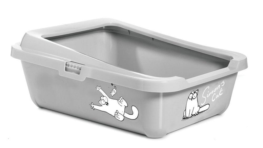Karlie Simon's Cat toaleta s okrajem 43x32x16 cm