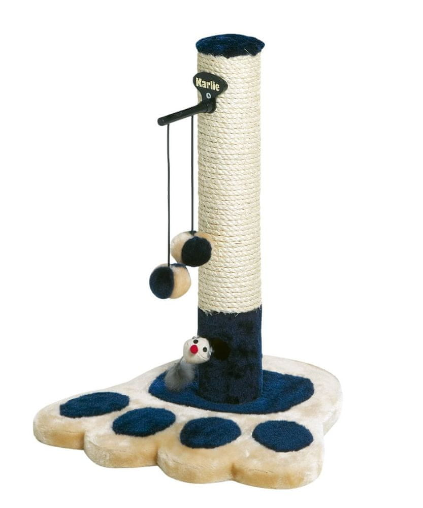 Karlie škrabadlo pro kočky béžovo-modré 37x37x49 cm