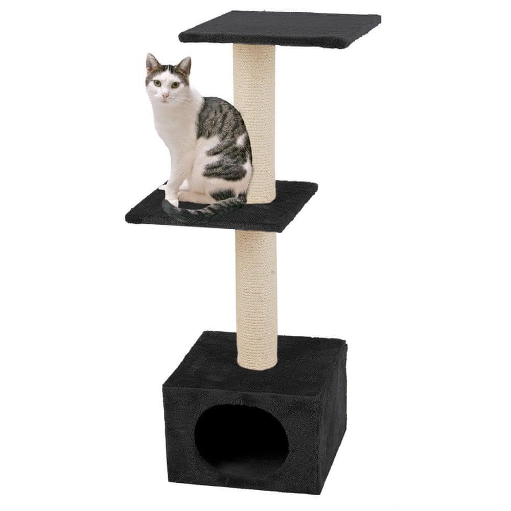 Karlie škrabadlo pro kočky černé 35x35x103 cm