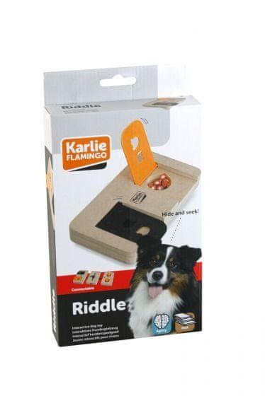 Karlie interaktivní dřevěná hračka RIDDLE 22x12 cm