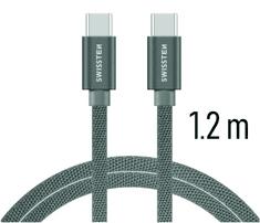 SWISSTEN przewód USB-C/USB-C 1,2 m, szary