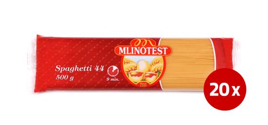 Mlinotest Spaghetti št. 44 jajčni špageti, 20 x 500 g
