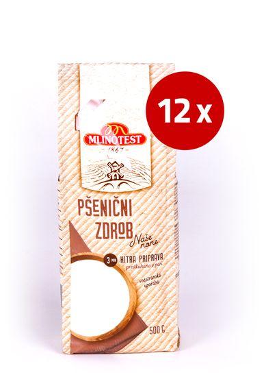Mlinotest Pšenični zdrob Naše none, 12 x 500 g