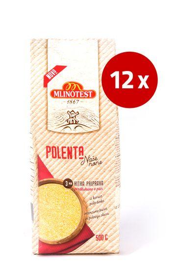 Mlinotest Polenta poltrdinka Naše none, 12 x 500 g
