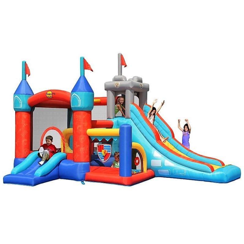 Happy Hop Multifunkční hrací centrum 13 v 1 Rytířský skákací hrad