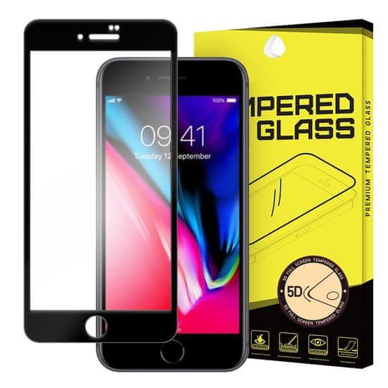 MG 5D Full Glue Super Tough zaščitno steklo za iPhone 7/8/SE 2020, črna