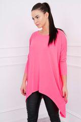 Kesi Tričko oversized, neonově růžová, velikost Universal