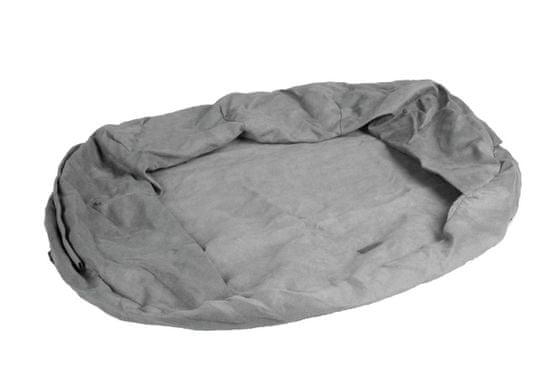 Karlie orthobed tartalék huzat az ovális ortopéd kutyafekhelyre, szürke, 100x65x24 cm