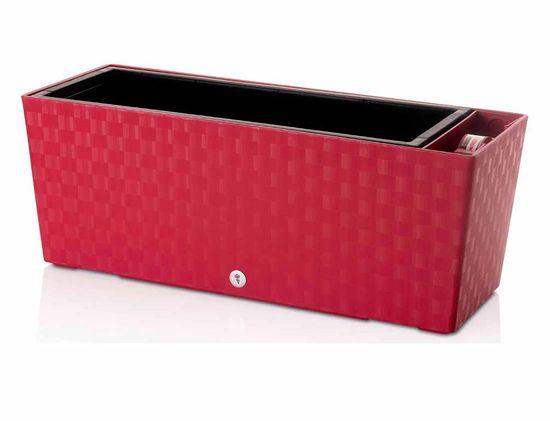 Plastkon Truhlík samozavlažovací SUPREME plastový červený 50 cm