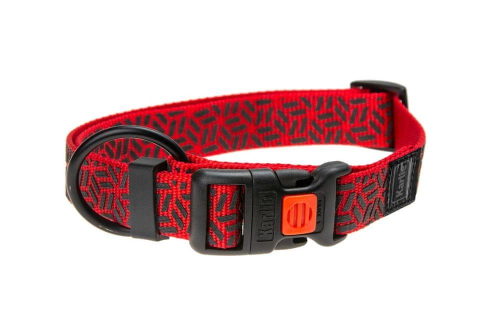 Karlie obojek ASP Mix&Match červený motiv grafit L/XL
