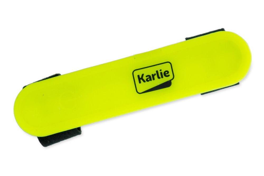 Karlie LED světlo na obojek, vodítko, postroj s USB nabíjením žluté 12x2,7 cm