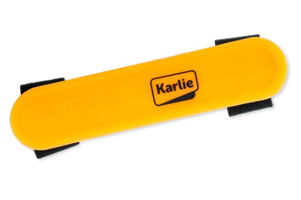 Karlie LED světlo na obojek, vodítko, postroj s USB nabíjením oranžové 12x2,7 cm