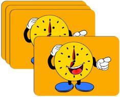 RoomDecor.eu Dětské prostírání-0014 žlutá - 4 Ks