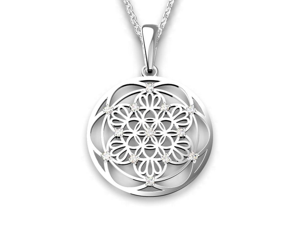 Jewstone Stříbrný přívěsek Mandala – květ života