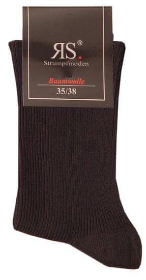 RS Dámské bavlněné zdravotní černé ponožky 12712 5-pack