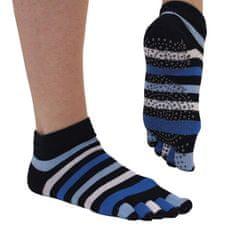 TOETOE Dámské YOGA & PILATES prstové protiskluzové ponožky na cvičení - 39-42, modrá