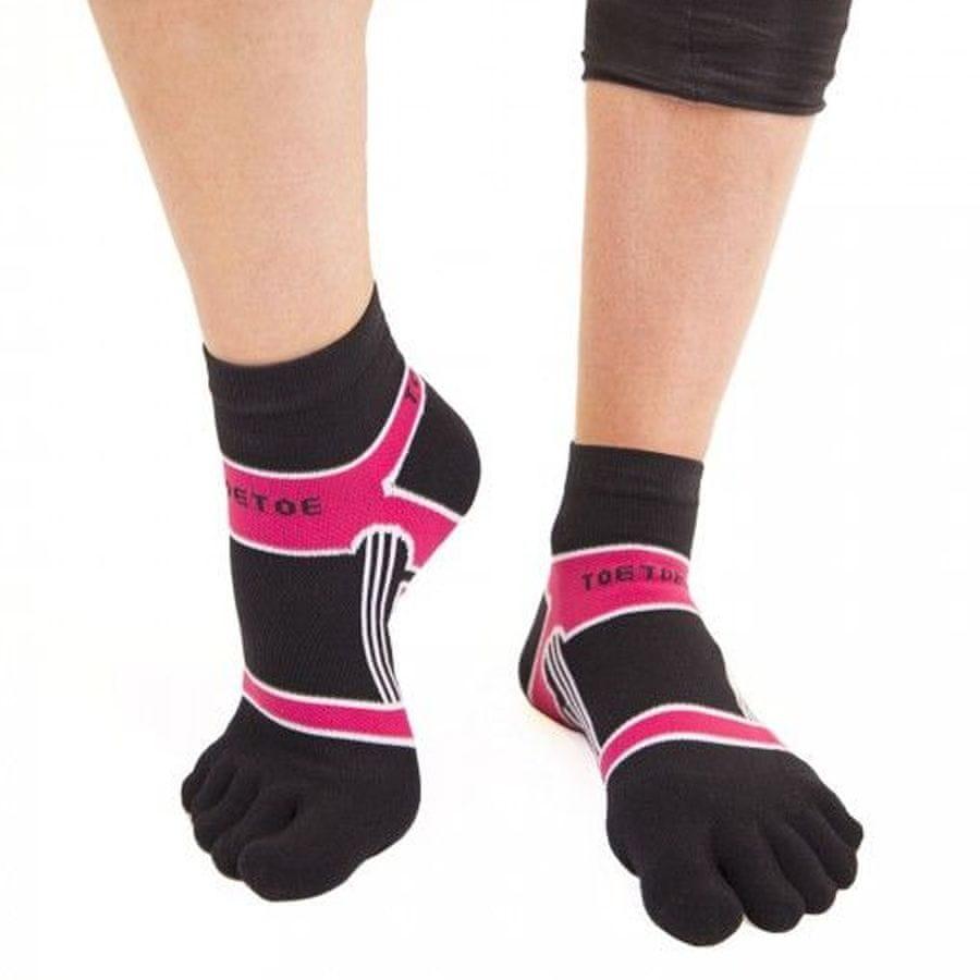 TOETOE Dámské i pánské bavlněné sportovní barevné prstové ponožky - 35-38