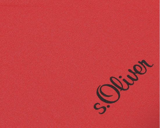 s.Oliver Dámsky palicový vystreľovací dáždnik City Uni Automatic - červený 71461SO100