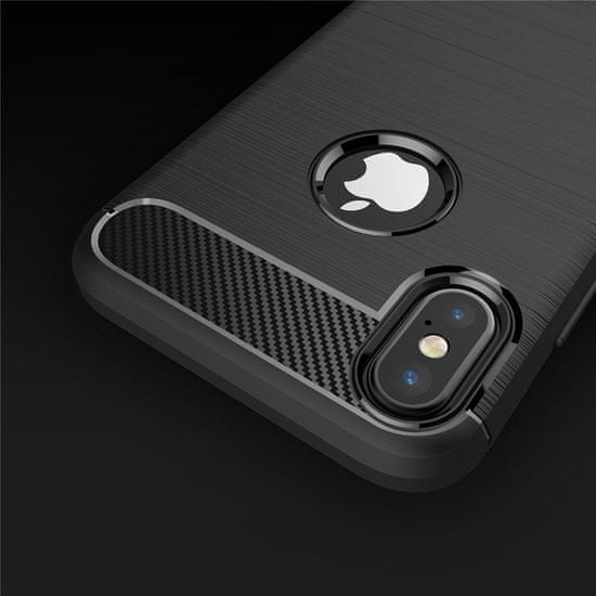 MG Carbon Case Flexible silikonski ovitek za iPhone XR, črna