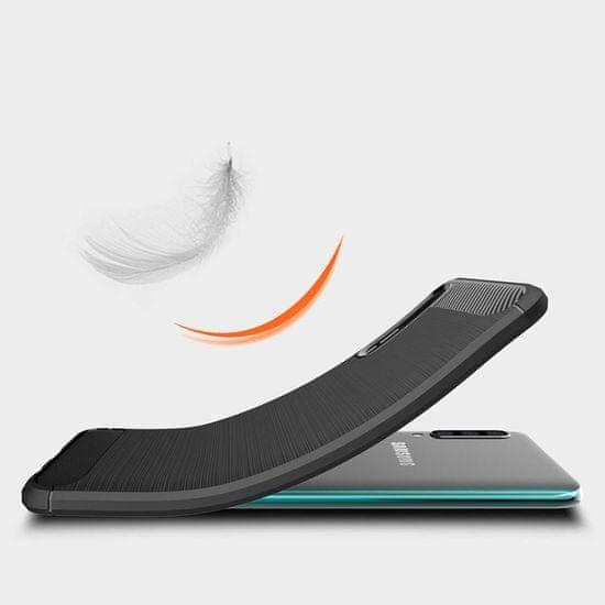 MG Carbon Case Flexible TPU szilikon tok Samsung Galaxy A70, fekete