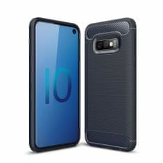 MG Carbon Flexible silikonski ovitek za Samsung Galaxy S10e, modra