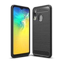 MG Carbon Case Flexible silikonski ovitek za Samsung Galaxy A20e, črna