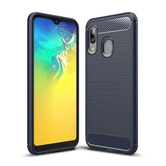 MG Carbon Case Flexible szilikon tok Samsung Galaxy A20e, kék