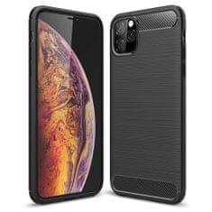 MG Carbon Case Flexible gumené púzdro pre iPhone 11 Pro Max, čierne