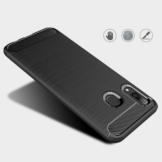 MG Carbon Case Flexible silikonski ovitek za Samsung Galaxy A40, modro