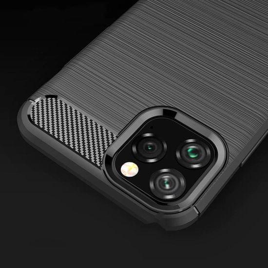 MG Carbon Case Flexible silikonski ovitek za iPhone 11 Pro, črna