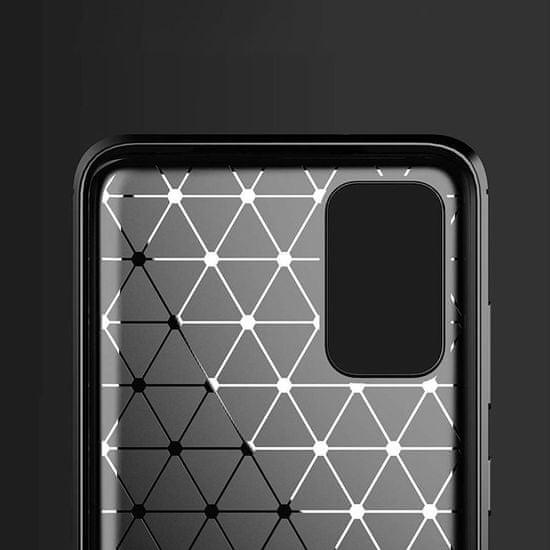 MG Carbon Case Flexible silikonski ovitek za Samsung Galaxy S20 Ultra, modro