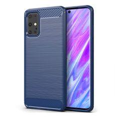 MG Carbon Case Flexible silikonski ovitek za Samsung Galaxy S20 Plus, modro