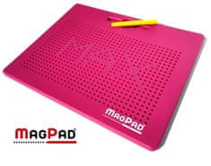MagPad Magnetická kreslící tabulka Magpad Big 714 kuliček - Růžová