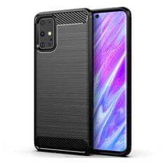 MG Carbon Case Flexible silikonski ovitek za Samsung Galaxy S20 Plus, črna