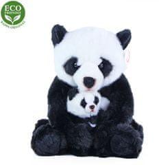 Rappa Plyšová panda s mládětem, 27 cm, ECO-FRIENDLY