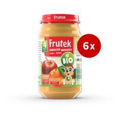 Fructal Frutek bio otroška kaša, jabolko in breskev, 6 x 190 g