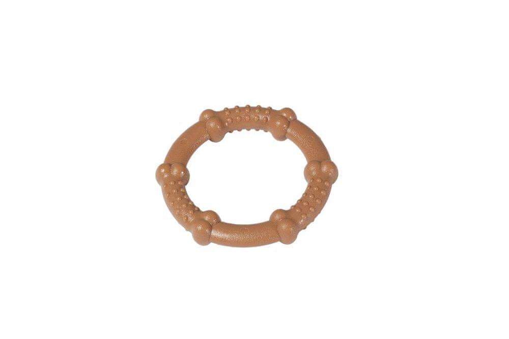 Karlie hračka pro psy nylonový žvýkací kroužek slaninový, průměr 7,5 cm