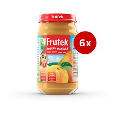 Fructal Frutek otroška kaša, marelica in hruška, 6 x 190 g