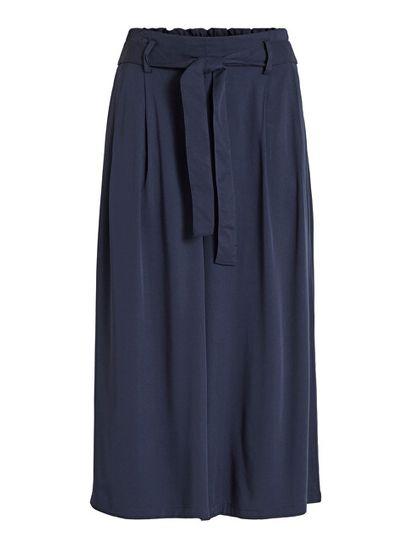VILA Spodnie damskie VIVERO HWRX CROPPED PANTS / SU Navy Blaze r