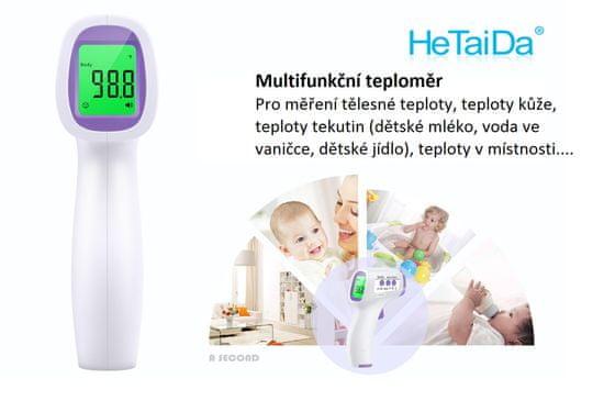 Teploměr bezkontaktní HeTaiDa HTD8813 - rozbaleno