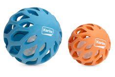 Karlie lyukacsos gumilabda LED világítással a belsejében, 11,5 cm, kék